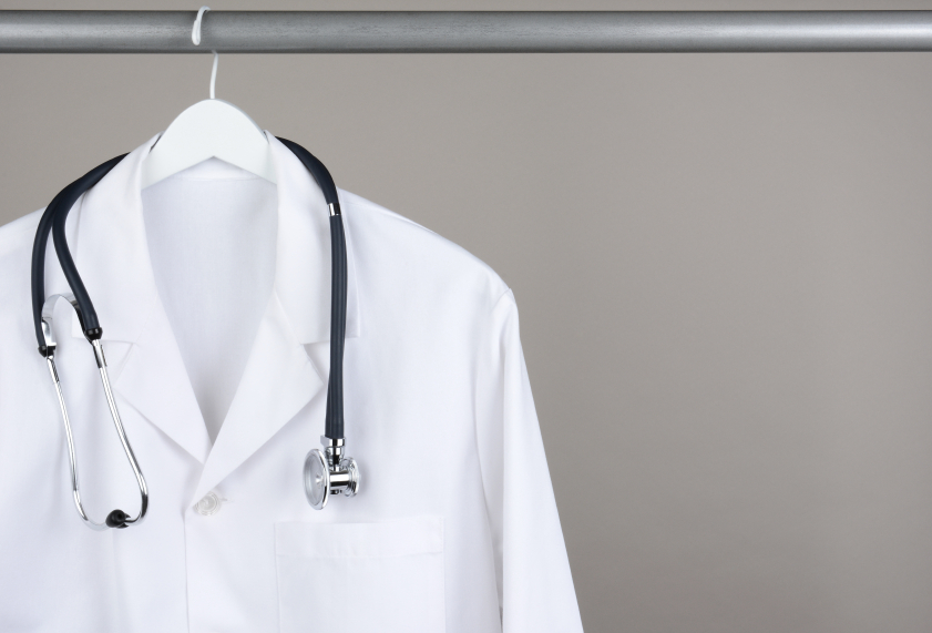 White Lab Coat with Stethoscope