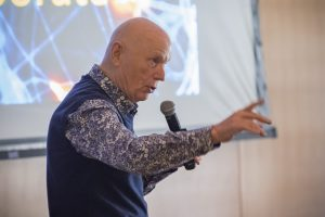 Story Musgrave presenting