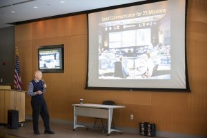 At the March 14 Armstrong Institute Grand Rounds, Story Musgrave shared stories and lessons learned from years being a NASA astronaut and working on the Hubble Space Telescope